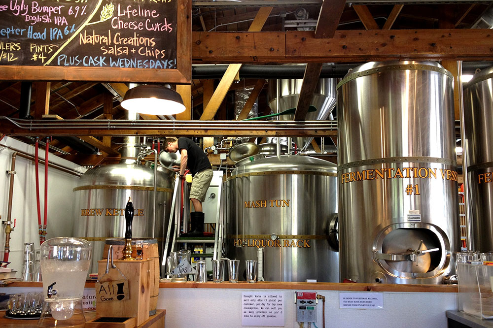 The brewing facility and taproom at Draught Works