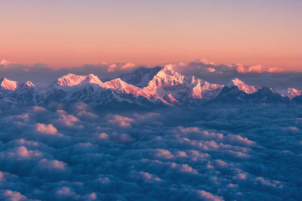 The third-highest mountain in the world, Kanchenjunga, in Nepal