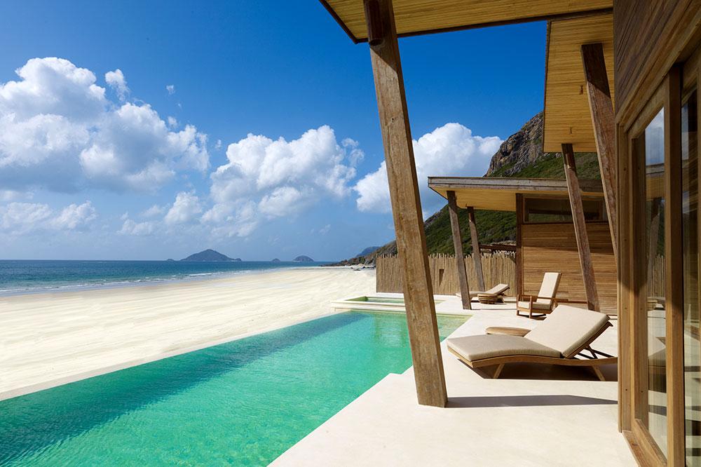 An Ocean Front Deluxe Pool Villa at Six Senses Con Dao