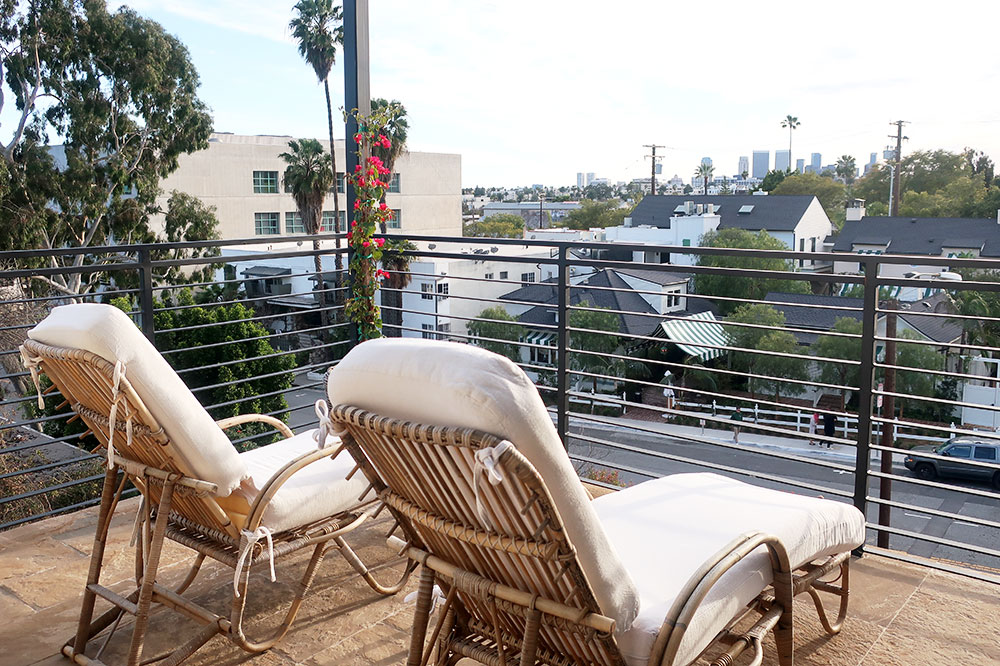 The terrace of our One Bedroom Suite at Hotel 850
