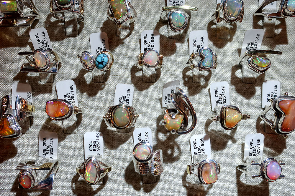 Rings from Opal Mine at Dôce 18 Concept House in San Miguel de Allende