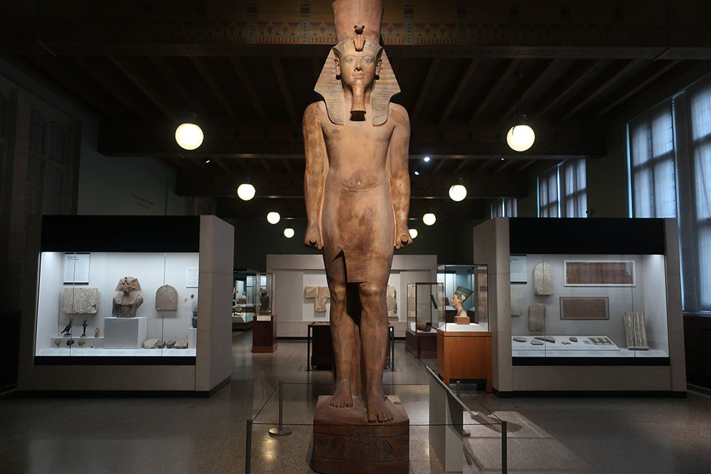 The Egyptian Gallery at the Oriental Institute of the University of Chicago