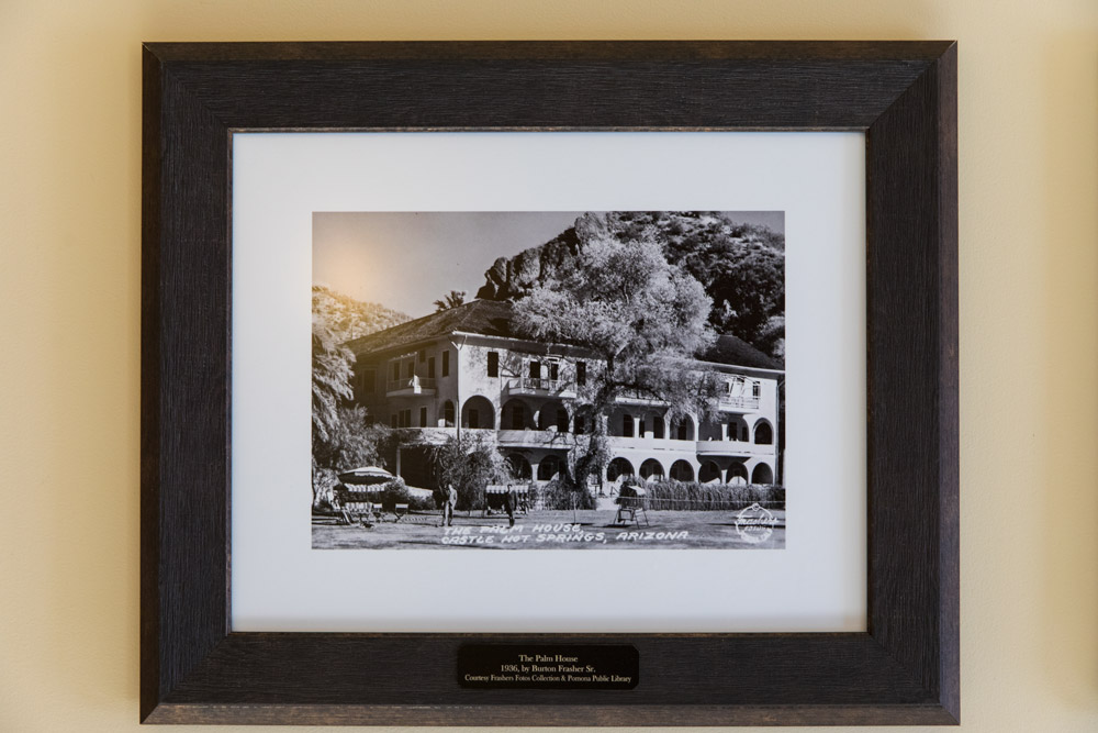 A photo of the original main hotel building at Castle Hot Springs that burned down