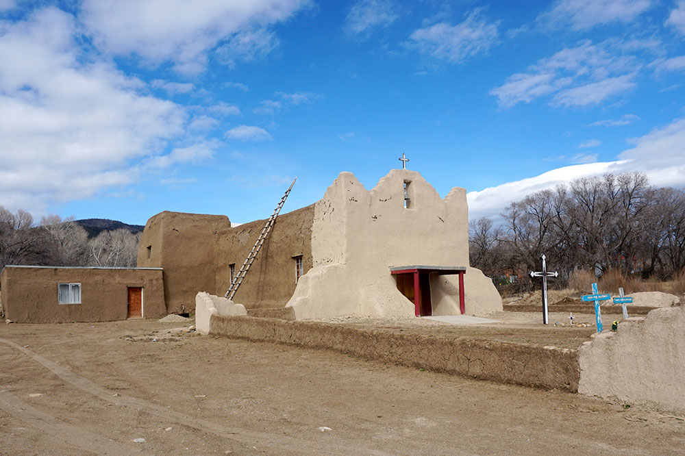 The church in the Picuris Pueblo outside Taos, New Mexico