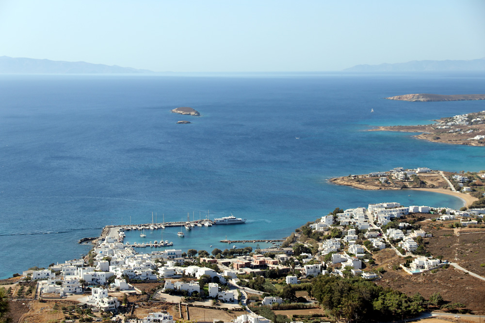 The town of Piso Livadi on Paros, Greece