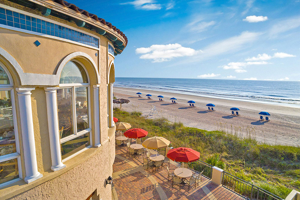 The view of the beach at Ponte Vedra Lodge & Club in Ponte Vedra Beach, Florida