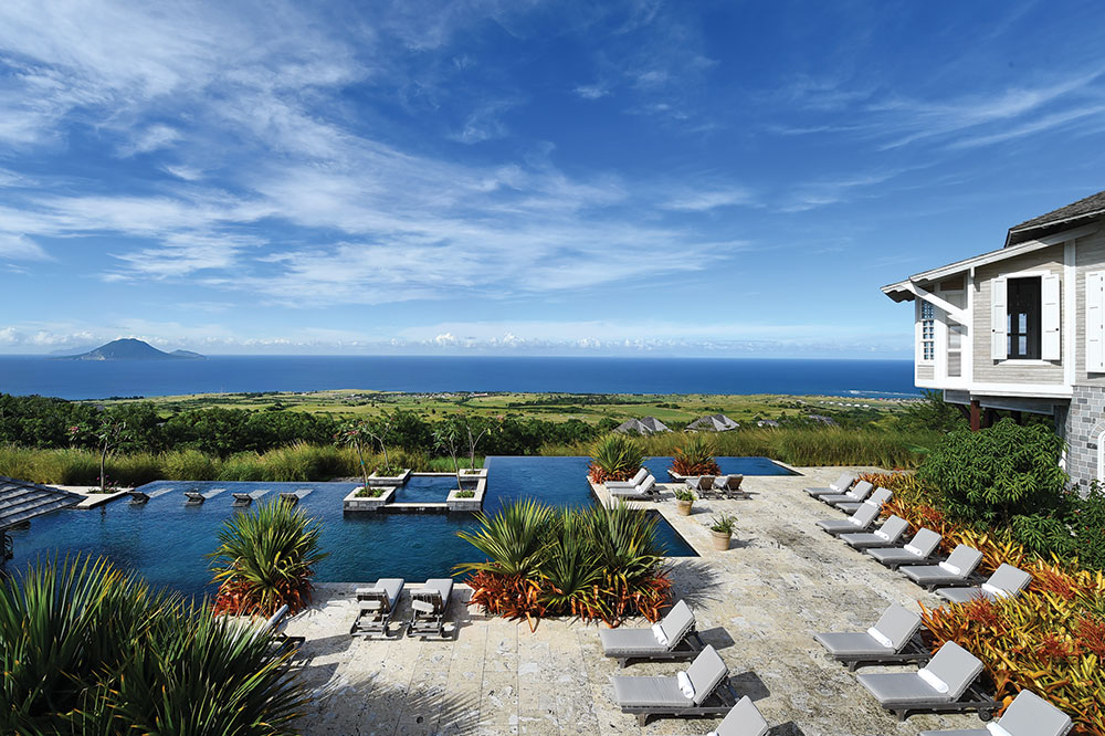 The pool at Belle Mont Farm in St. Kitts and Nevis