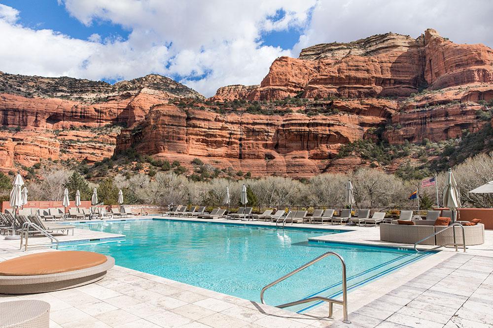 The pool at Enchantment Resort