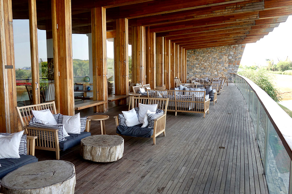 The deck off of Fasano Boa Vista