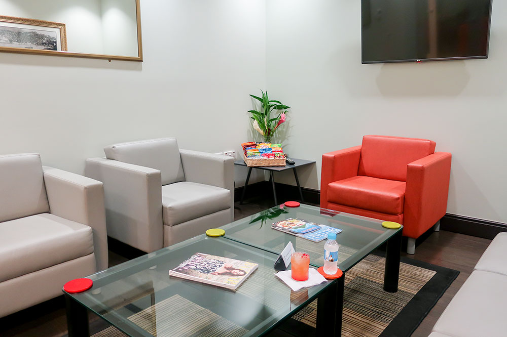 The private lounge at the IAM Jet Centre