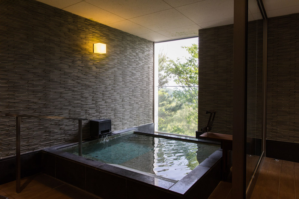 Large private onsen in our room at Setouchi Aonagi