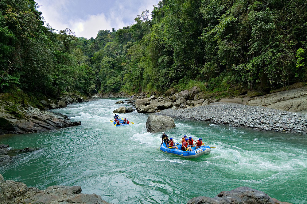 Rafting the Pacuare River at Pacuare Lodge in Costa Rica
