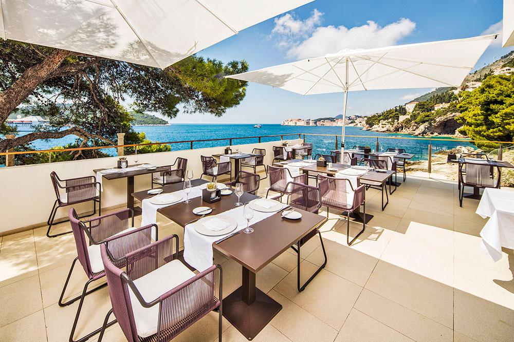 The terrace of Restaurant Pjerin at Villa Dubrovnik