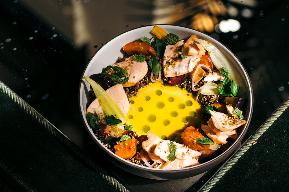 Roasted-salmon quinoa bowl at The NoMad Hotel