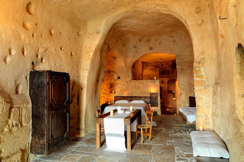A room at Le Grotte della Civita in Matera, Italy