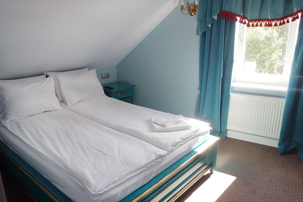 Our room at Maison Elysée