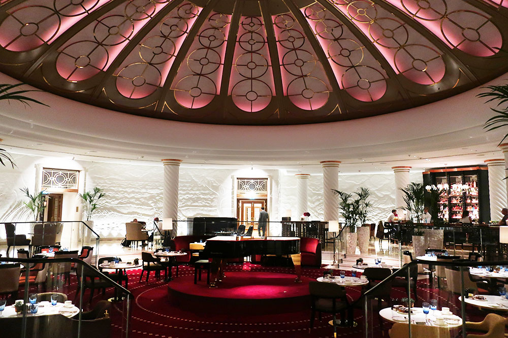 The rotunda at Four Seasons Hotel London at Ten Trinity Square