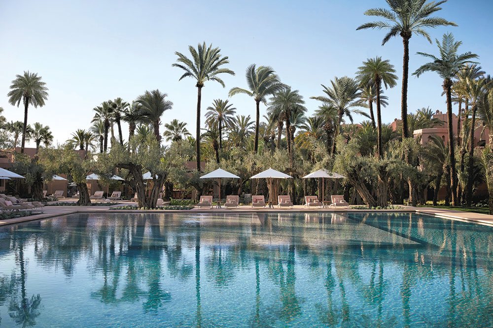 The pool at Royal Mansour