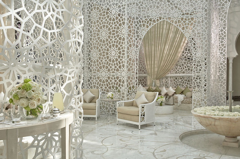 Spa lobby at the Royal Mansour in Marrakech, Morocco