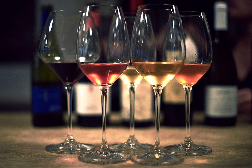 Variety of wines at Ruffian