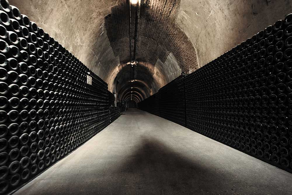 The Champagne cellar at Ruinart Cellars in Reims