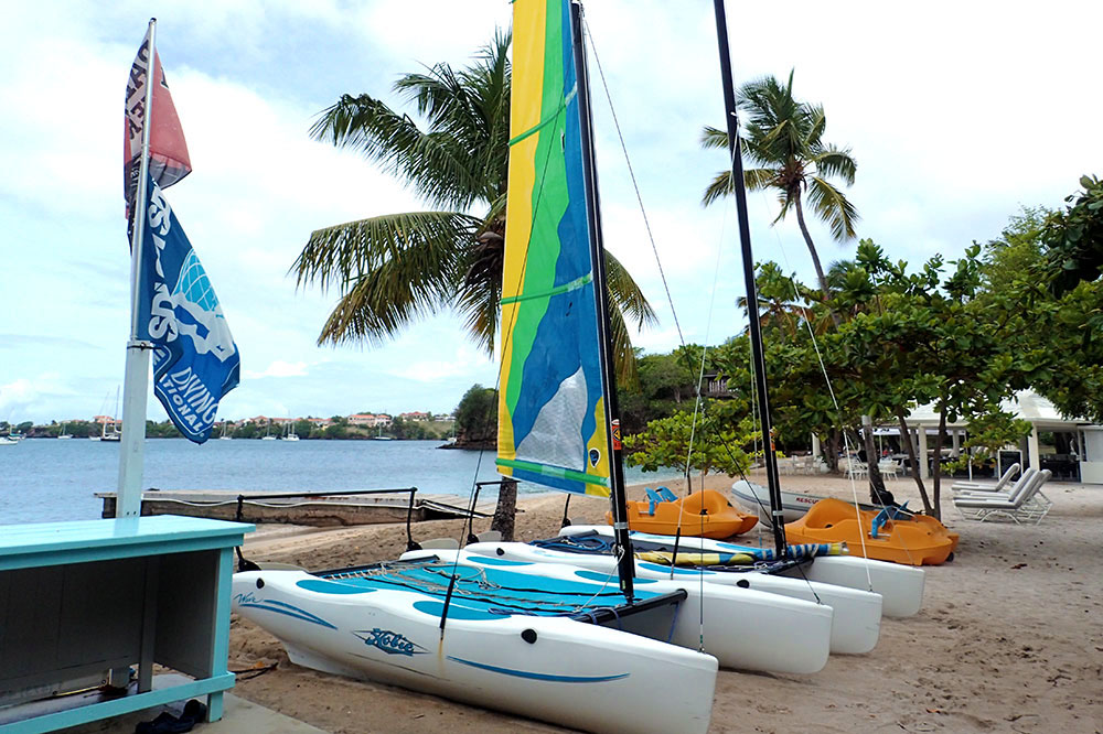 Sailboats at Calabash Luxury Boutique Hotel