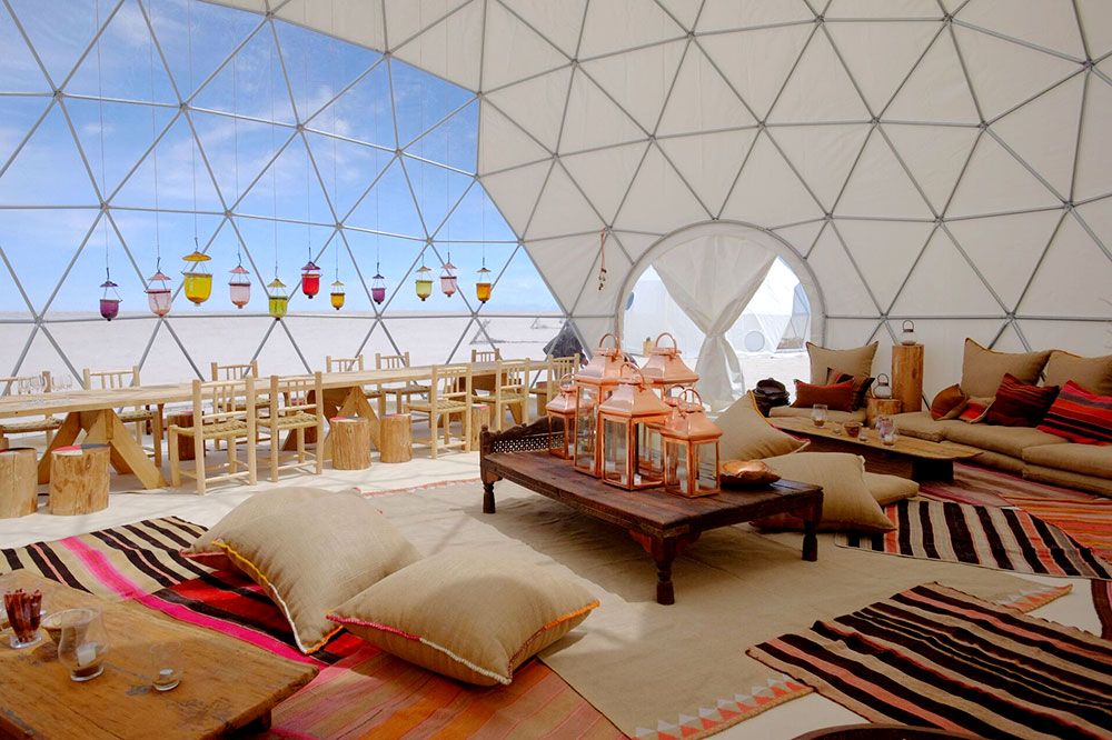 The large communal tent at Kachi Lodge