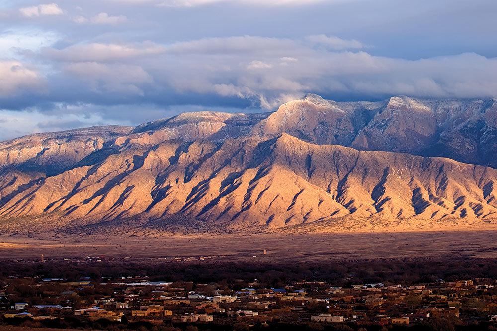 The Sandia Mountains near Albuquerque, New Mexico