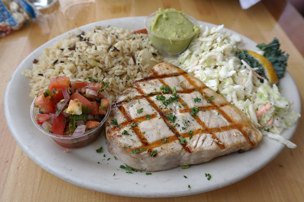 Our grilled swordfish from Brophy Bros.