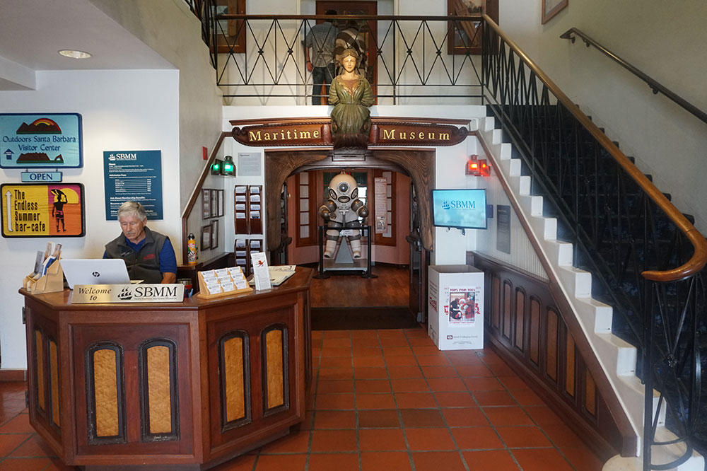 The entrance to the Santa Barbara Maritime Museum