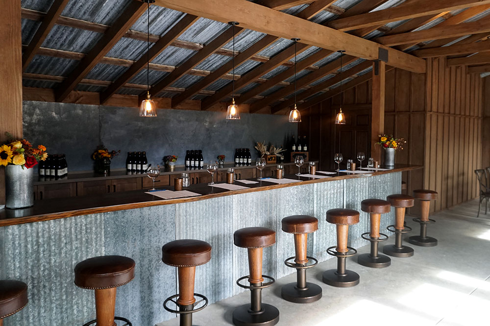 The tasting room at Pence Vineyards & Winery