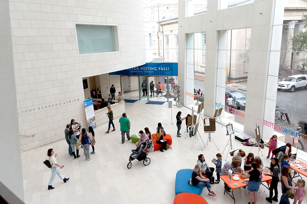 The lobby of the Jepson Center in Savannah
