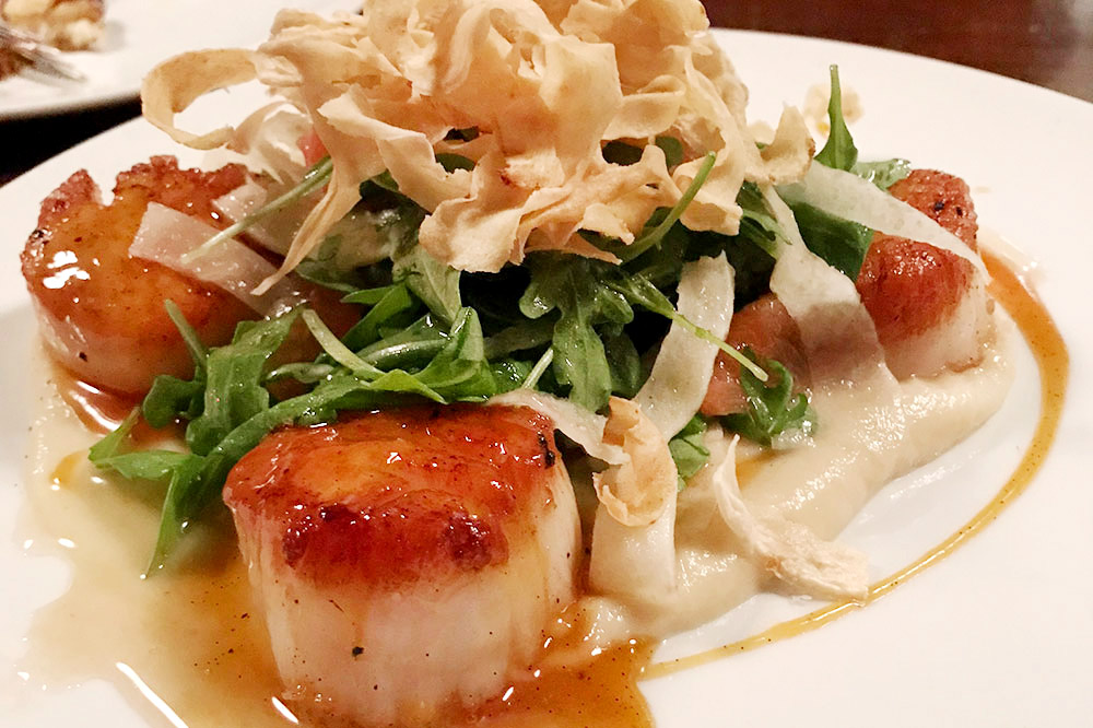 Seared scallops from Stanbury in Raleigh