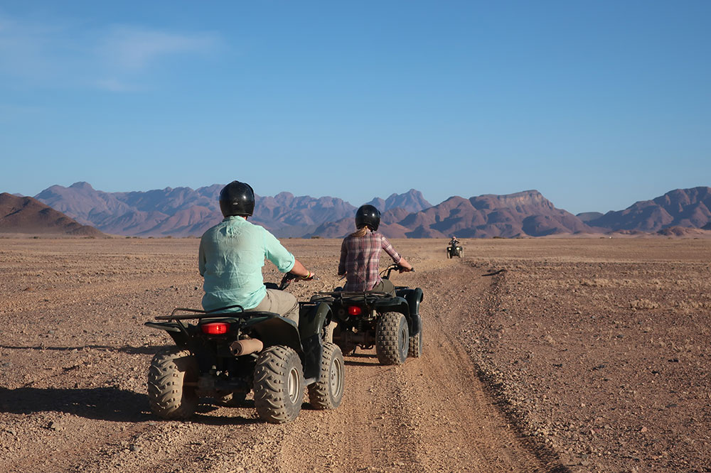 Our quad-biking excursion with Little Kulala