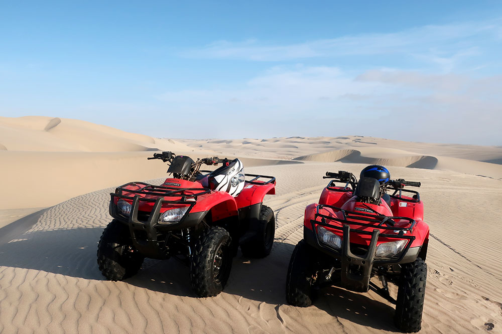 ATVs on our excursion with Shipwreck Lodge