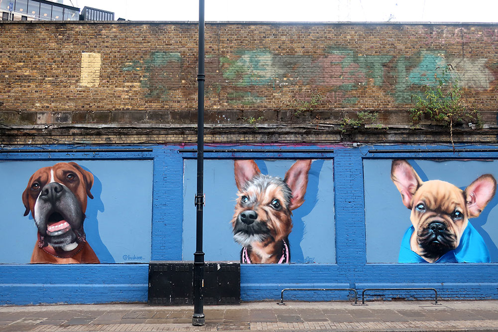 The All Dogs Matter mural on Great Eastern Street