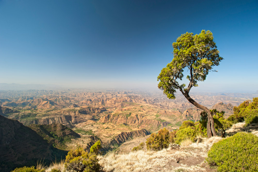 A view of the Simien Mountains in Ethiopia