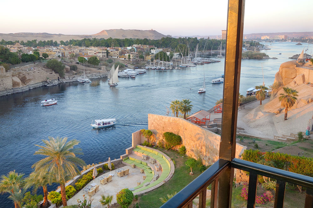 The view of the Nile from our suite at the Sofitel Legend Old Cataract Aswan - Photo by Hideaway Report editor
