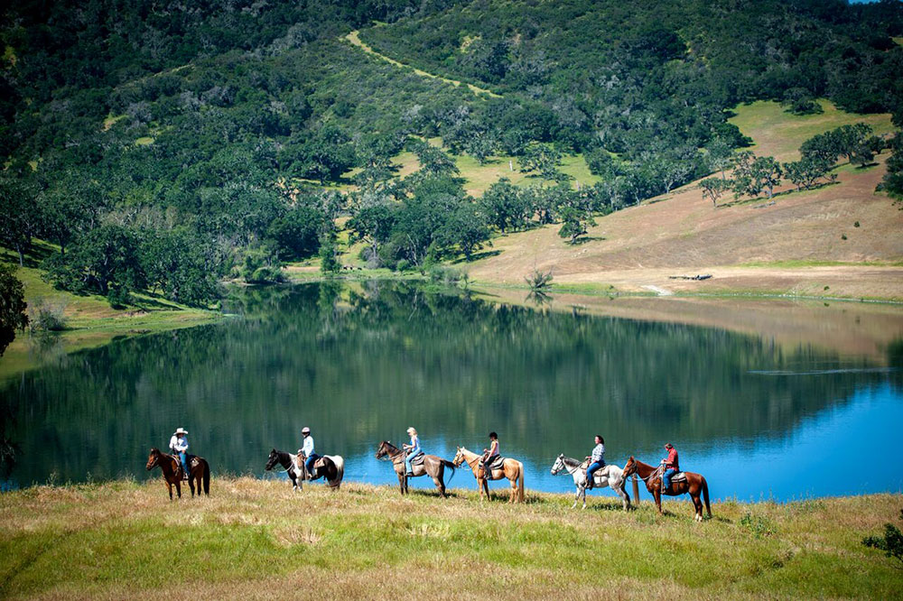 Horseback riding at the Alisal Guest Ranch & Resort