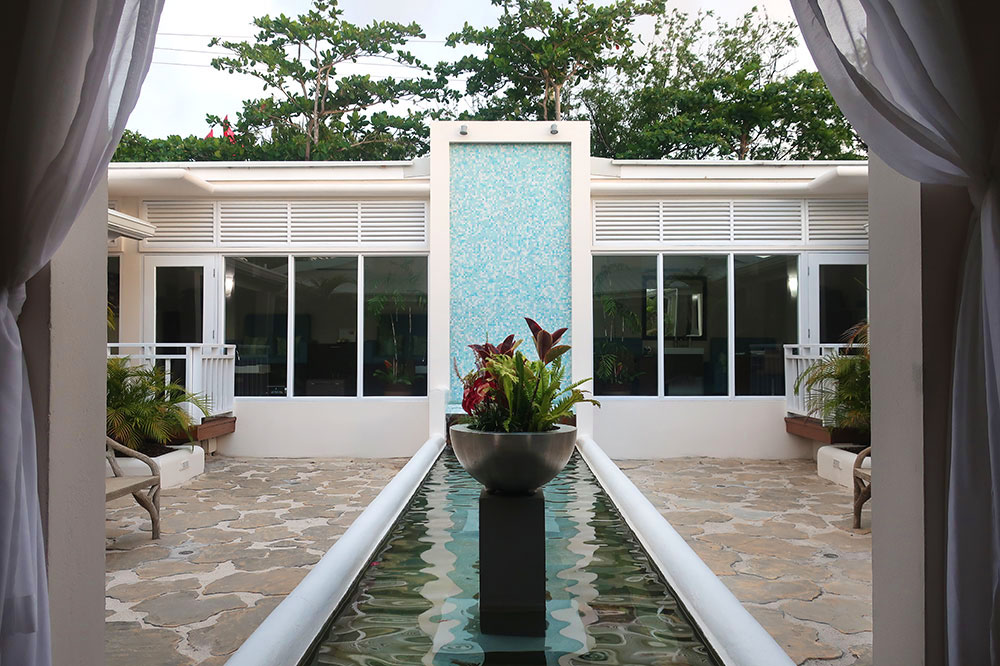 The entrance to the spa at Spice Island Beach Resort