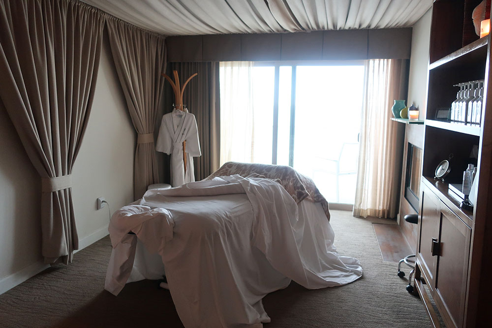 The treatment room of the spa at the Malibu Beach Inn