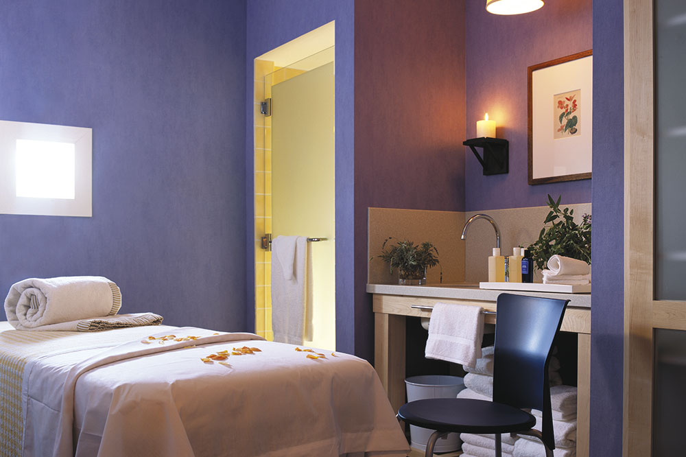 The spa treatment room at Lake Austin Spa Resort