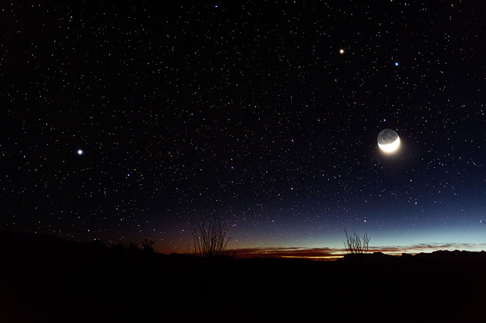 The stars seen at night in Big Bend National Park
