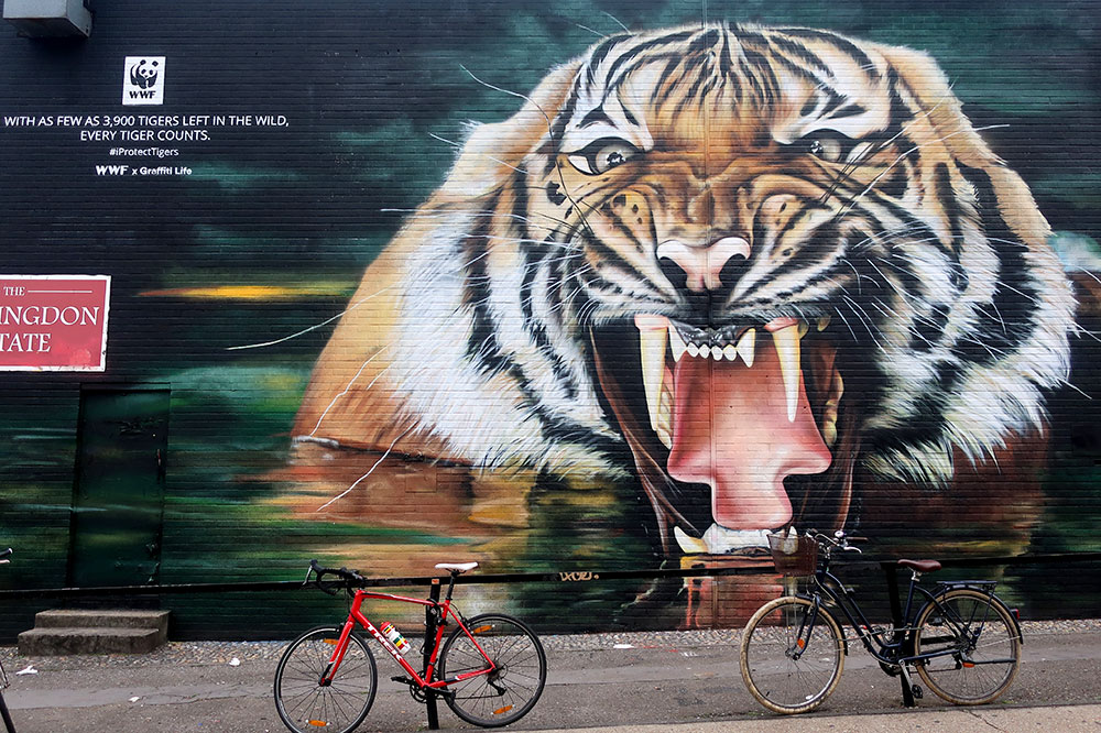 A World Wildlife Fund mural along Chance Street