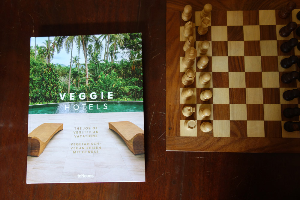 Chess and suitable reading material in the library