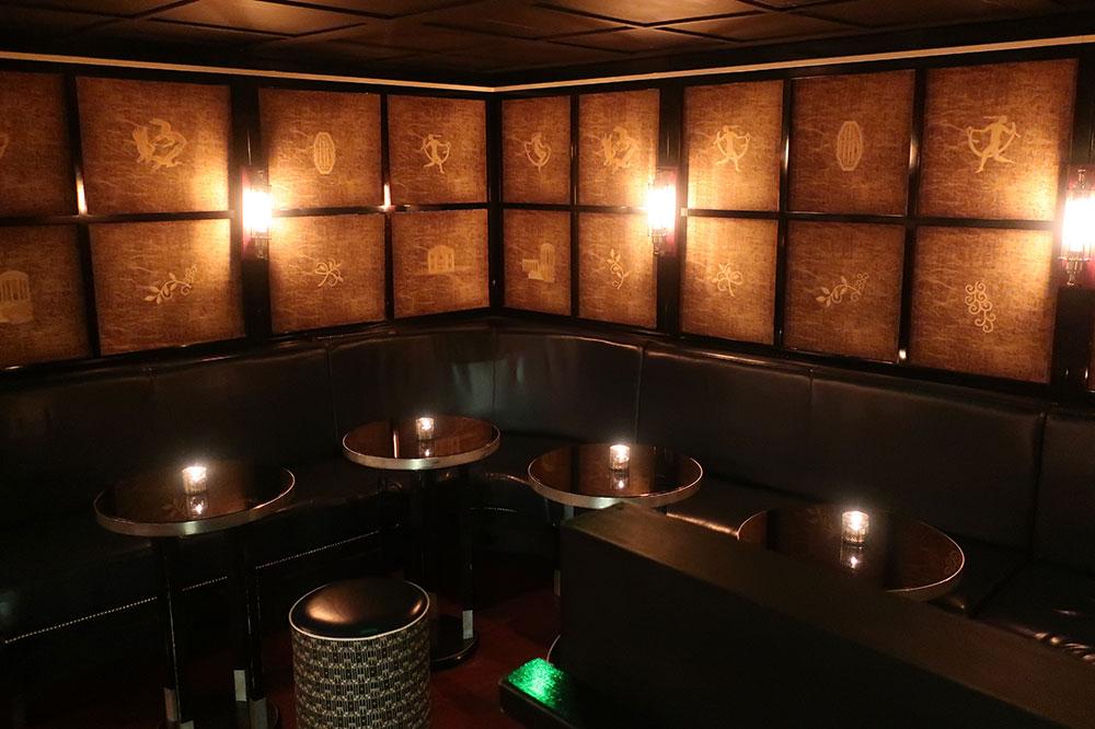 The basement lounge at Swift