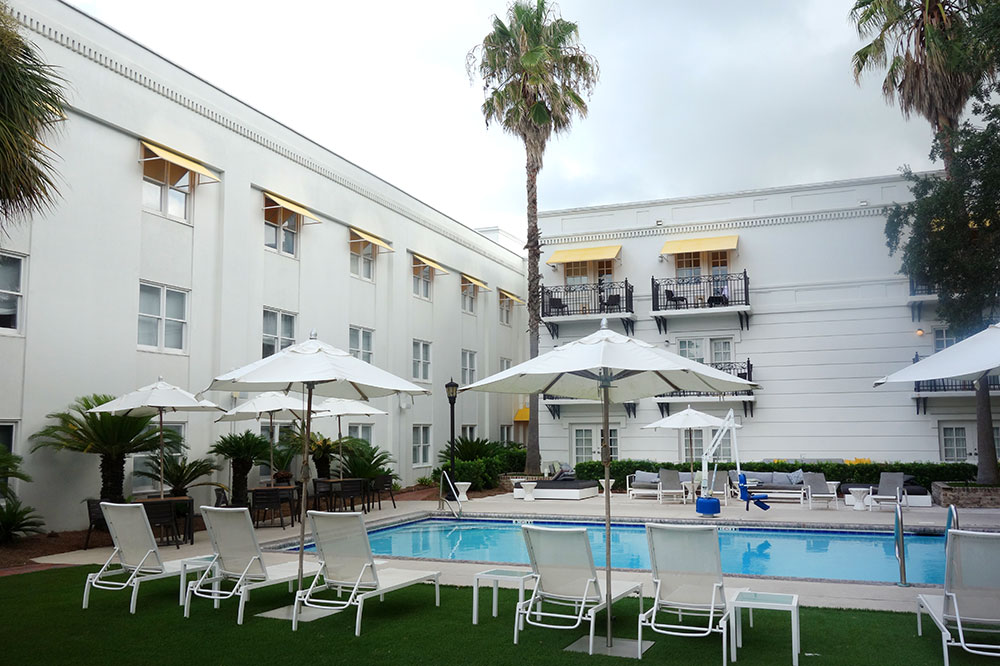 The pool at The Kimpton Brice Hotel in Savannah