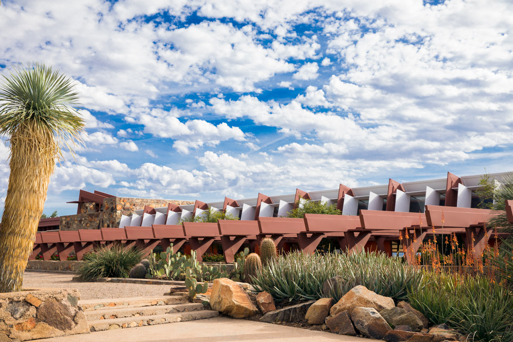 Xeric gardens at Taliesin West in Scottsdale