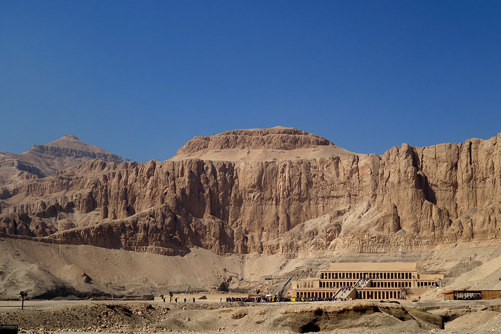 The temple of Queen Hatshepsut in Luxor
