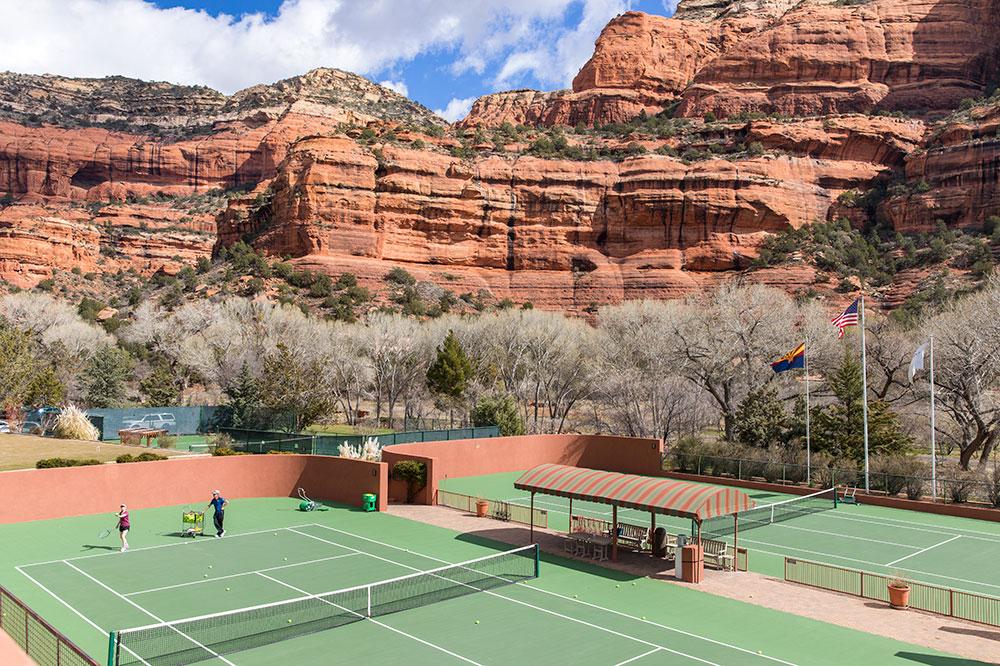 Tennis courts at Enchantment Resort